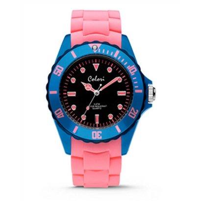 Colori Colori Horloge Colour Combo blauw/roze