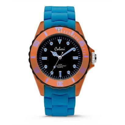 Colori Colori Horloge Colour Combo blauw/oranje