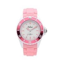 Colori Colori Horloge Colour Combo roze/wit