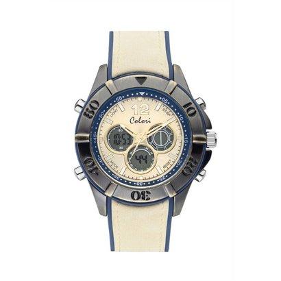 Colori Colori Horloge Timber Vintage wit