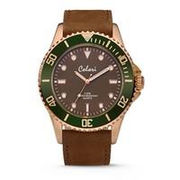 Colori Colori Horloge Timber horloge bruin/groen