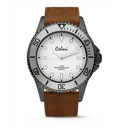 Colori Colori Horloge Timber horloge grijs/wit