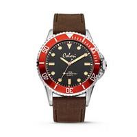 Colori Colori Horloge Timber horloge bruin/rood