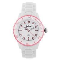 Colori Colori horloge White Summer roze 5-COL025