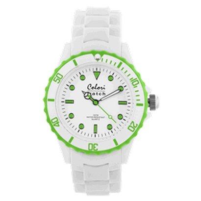 Colori Colori horloge White Summer groen 5-COL016