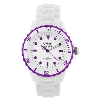 Colori Colori horloge White Summer paars 5-COL020
