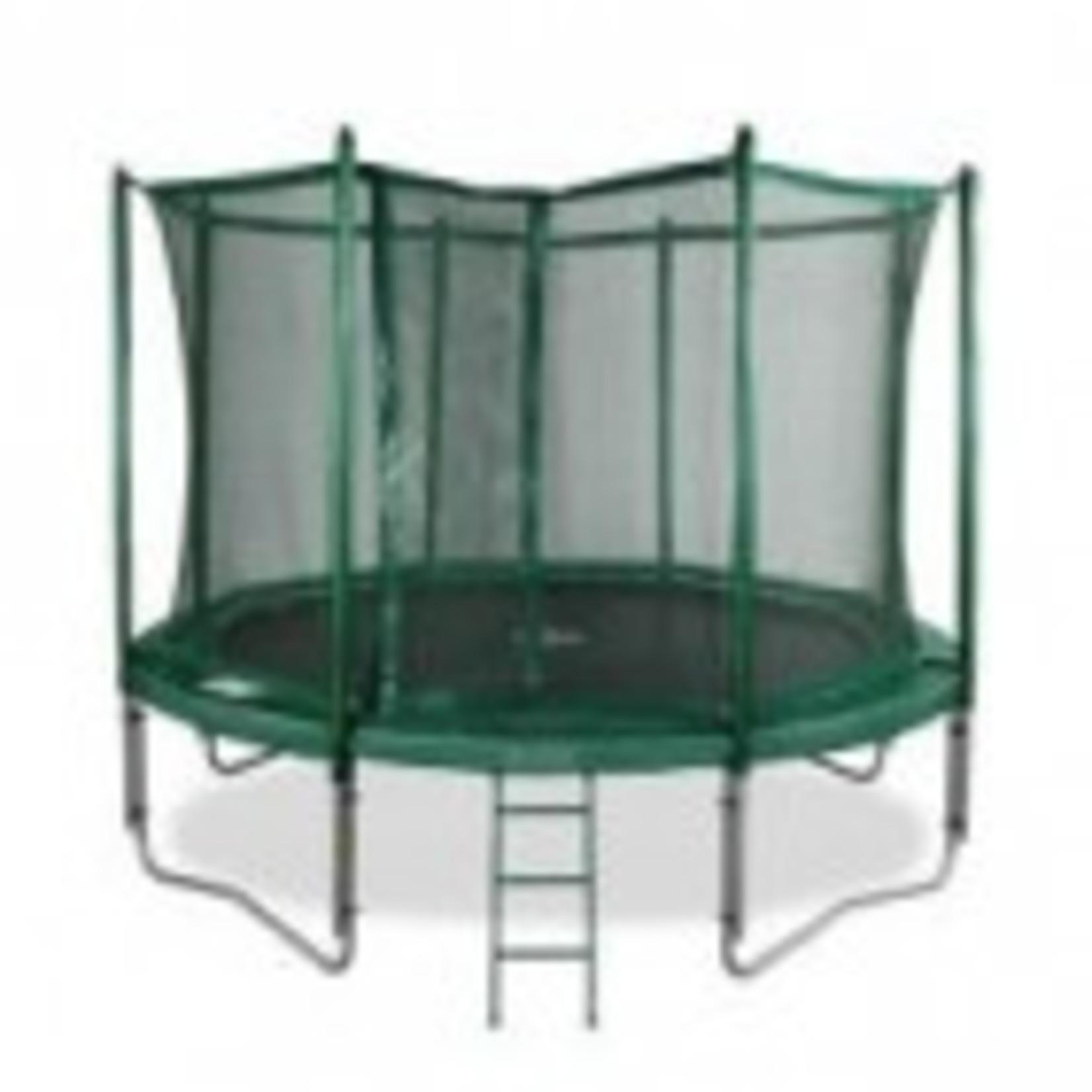 Avyna Top kwaliteit trampoline compleet met veiligheidsnet en trap.Doorsnee 200cm en hoogte 41cm