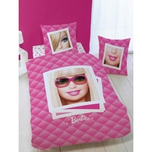 Dekbed Barbie portrait: 140x200 cm
