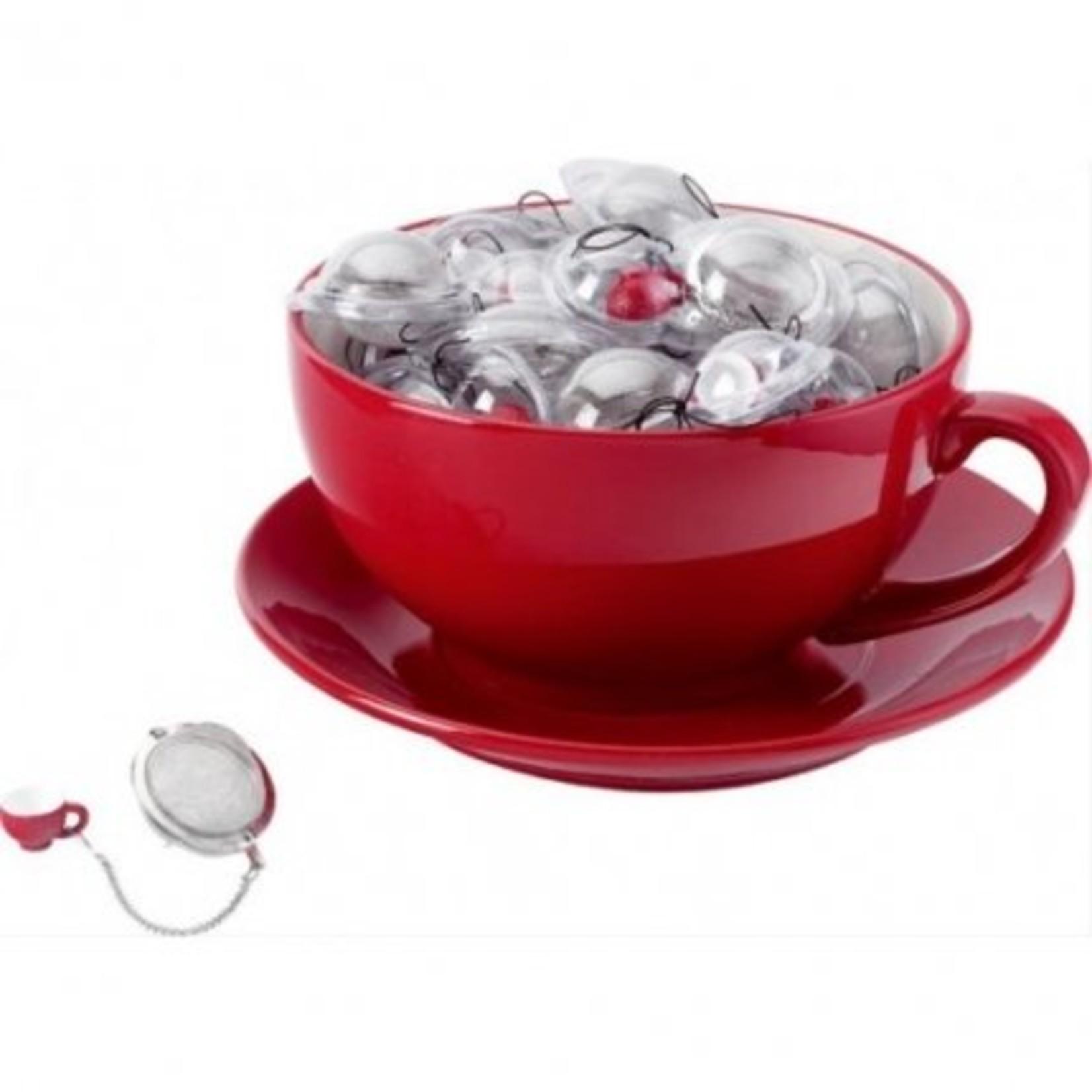 Balvi Handig voor losse thee, thee zeef met een miniatuur kopje.