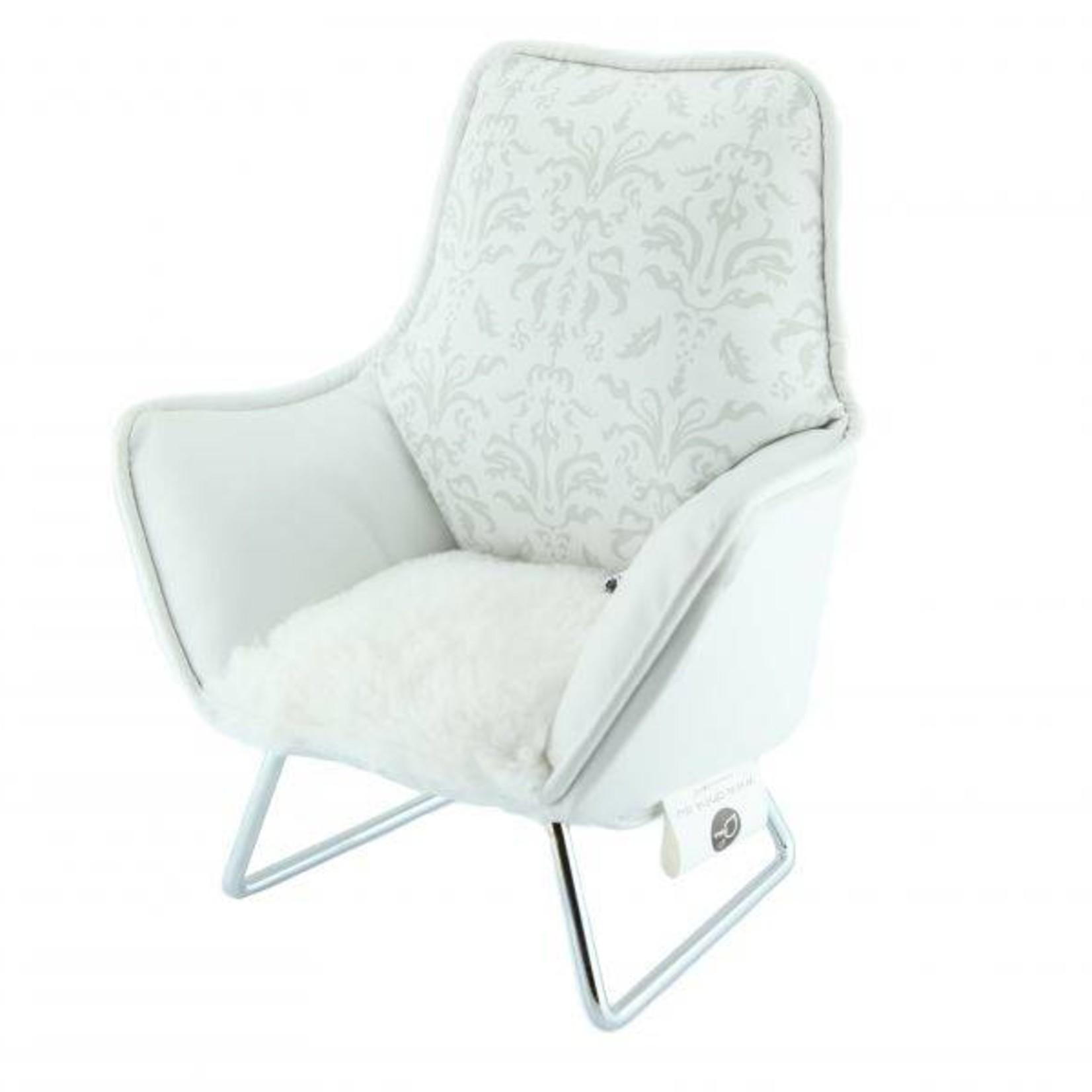 Music chair telefoon wit baroc