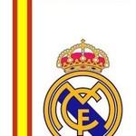 Badlaken real madrid blauw/wit logo: 75x150 cm