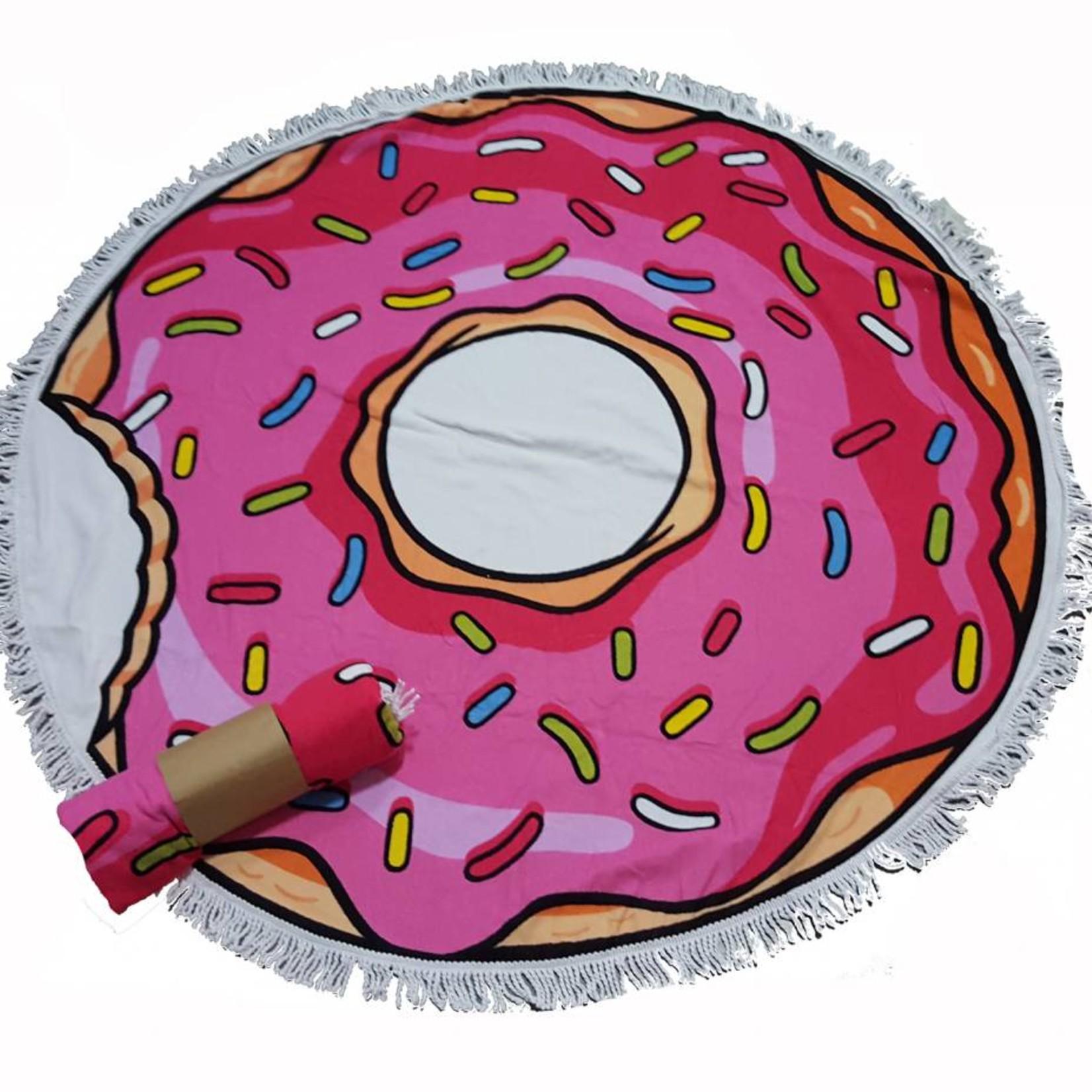 Roundie beach towel - rond strandlaken - badstof- boho - Ibiza handdoek bali stijl - Donut