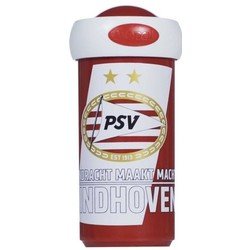 Schoolbeker PSV rood/wit