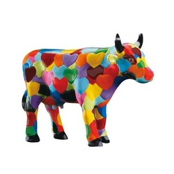 Cowparade Small Hearststanding Cow