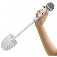 Microfoon Toiletborstel zilver