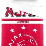 AJAX Dekbed ajax rood/wit: 140x200/60x70 cm