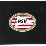 PSV Portemonnee psv zwart/rood: 13x8 cm