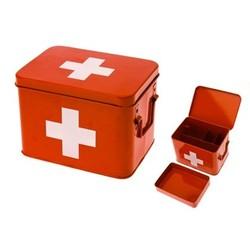 Medicijn box rood met wit kruis M