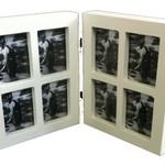 Balvi Fotolijst collage tweeluik 8 in 1 mini wit