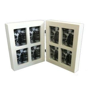 Fotolijst collage tweeluik 8 in 1 mini wit