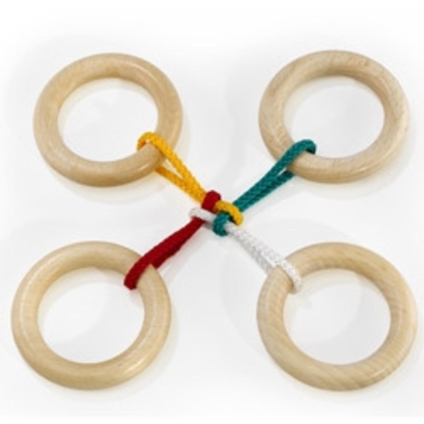 Eureka Verwijder de 4 ringen en zet hem weer in elkaar voor het volgende slachtoffer