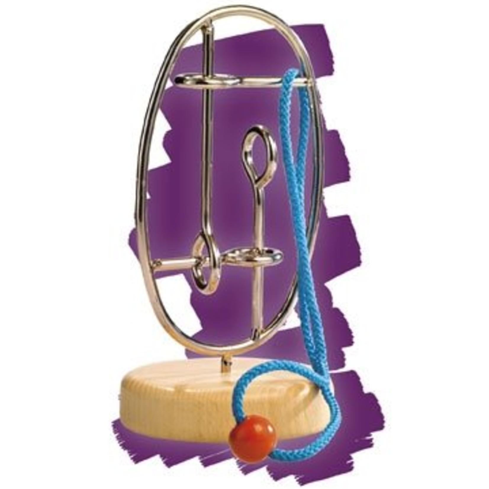 Eureka Verwijder het touw van het metalen frame en zet hem weer in elkaar voor het volgende slachtoffer