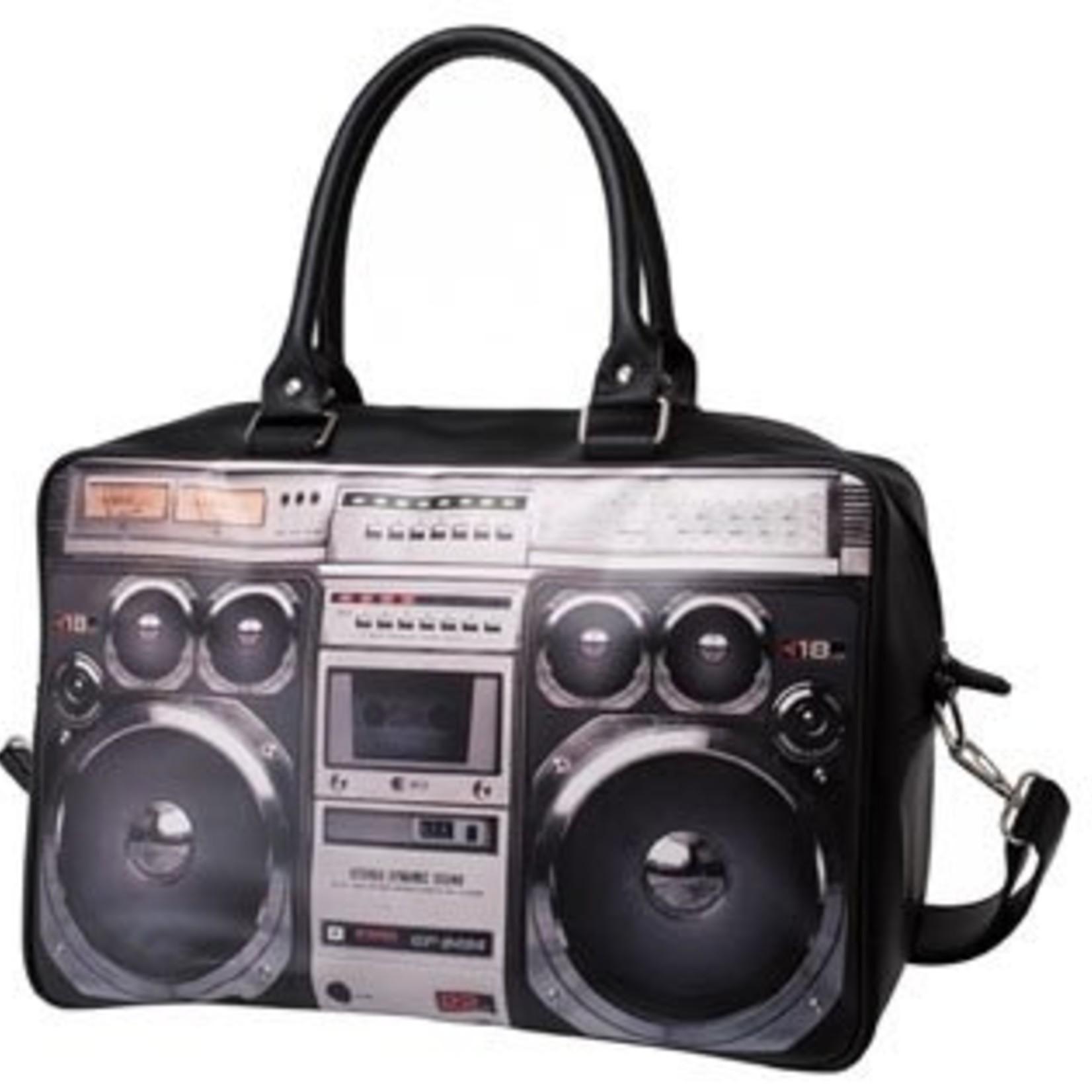 PT Weekend Bag Ghetto Blaster met fotoprint.