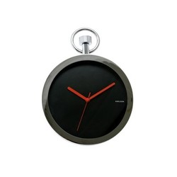 Wandklok Pocket Watch chrome black KA5056BK