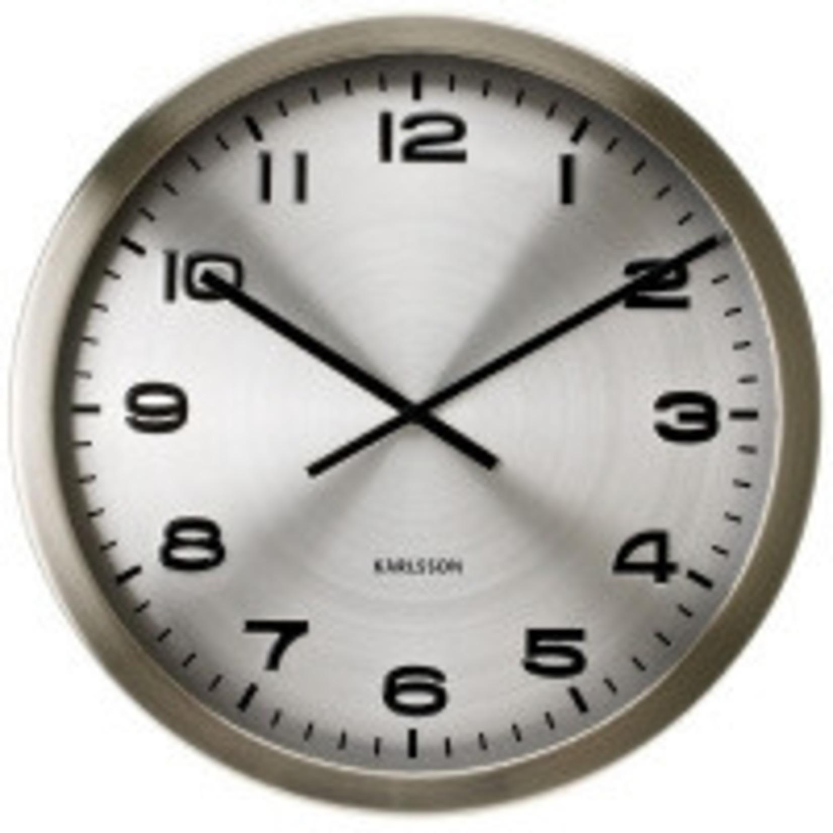 Karlsson Moderne klok met aluminium wijzerplaat.Doorsnee 50cm. U