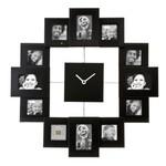 PT Fotolijst klok Family Time zwart HM0347BK