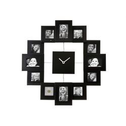 Fotolijst klok Family Time zwart HM0347BK