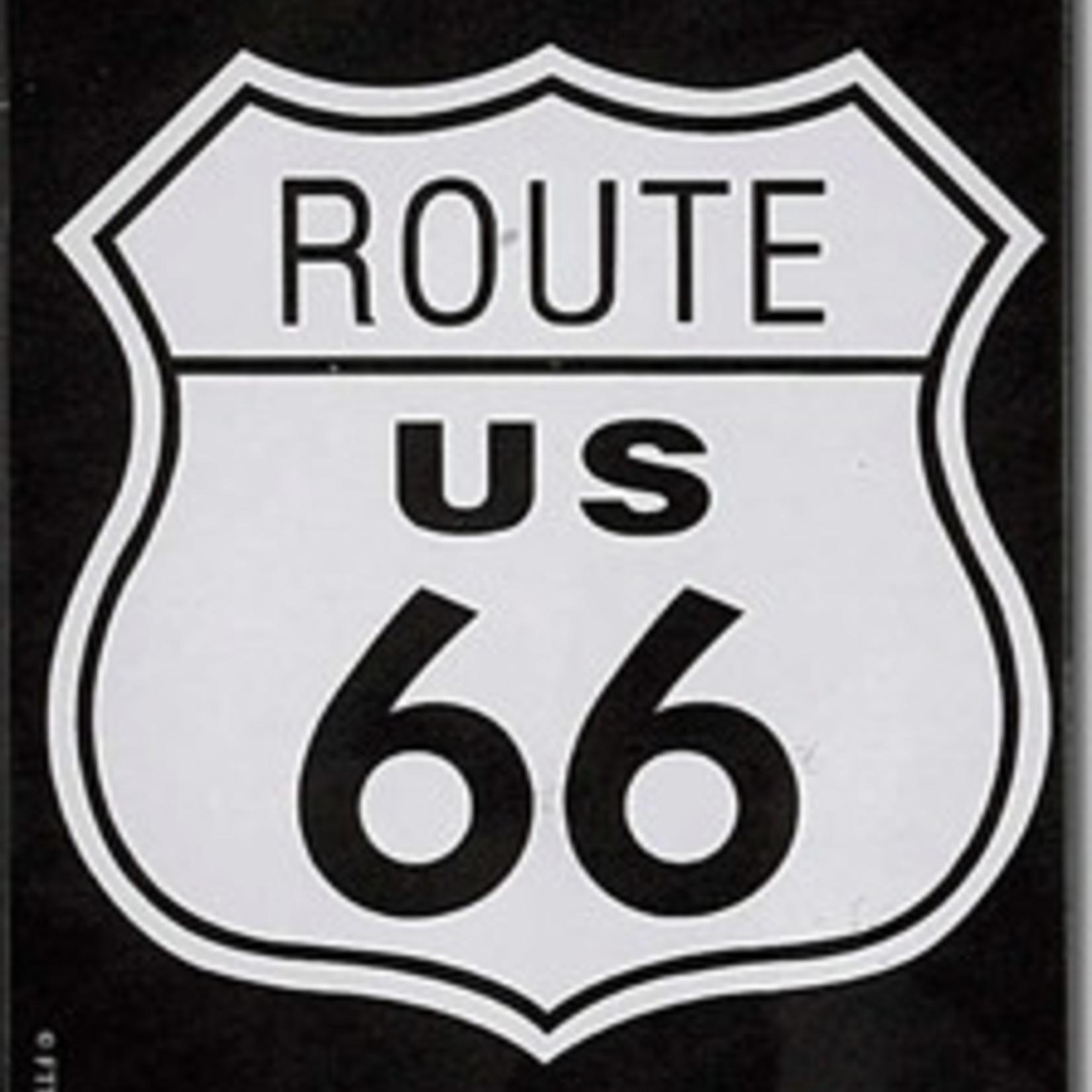 Magneet Route 66 metaal 55x75mm