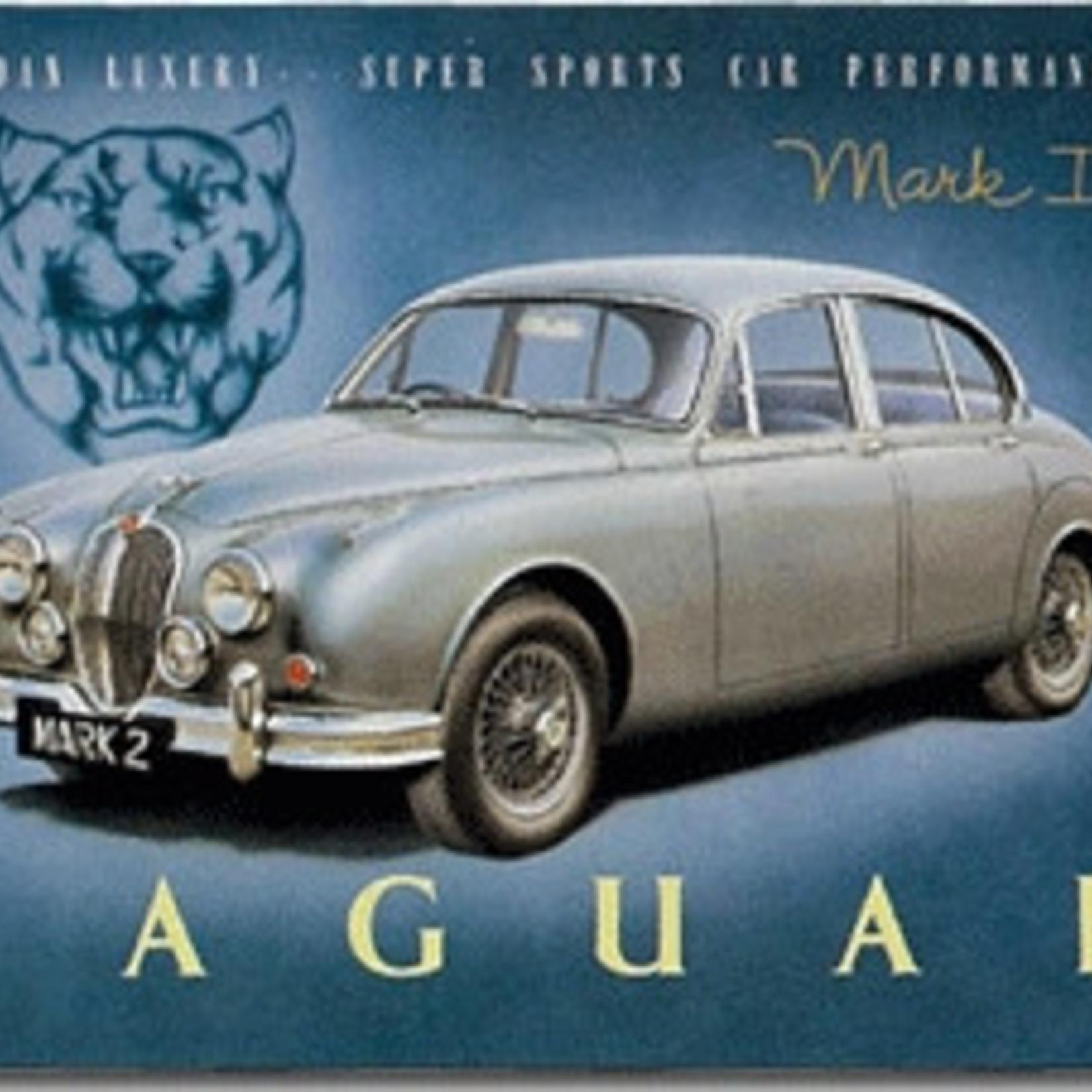 Magneet Jaguar Mark II metaal 55x75mm