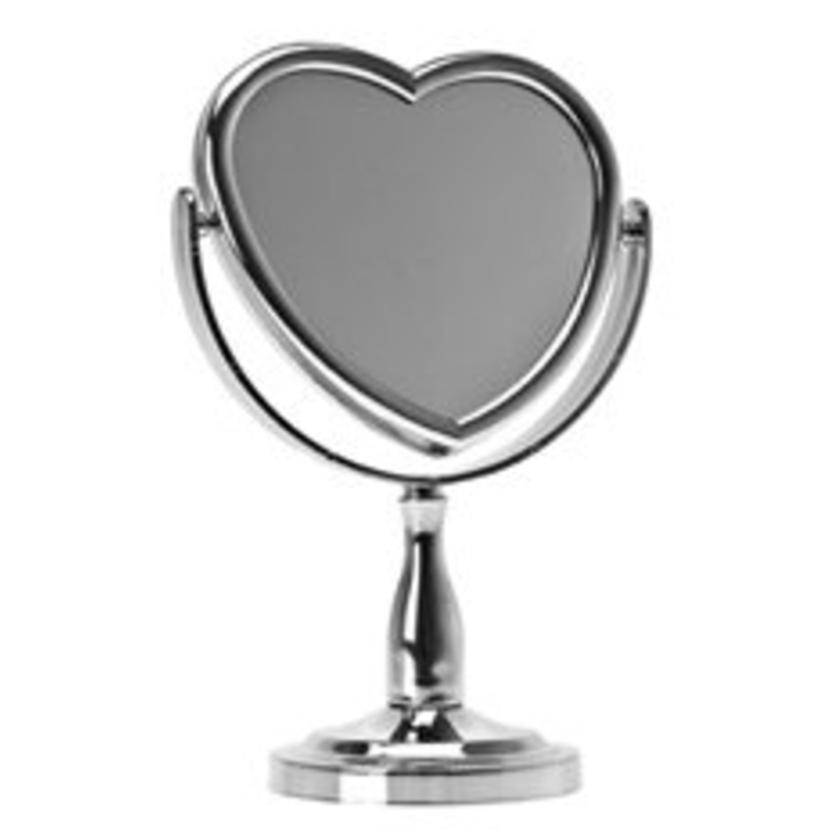 Hart spiegel staand chrome. Hoogte 26cm.