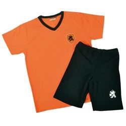 Kidsset oranje/zwart mt164