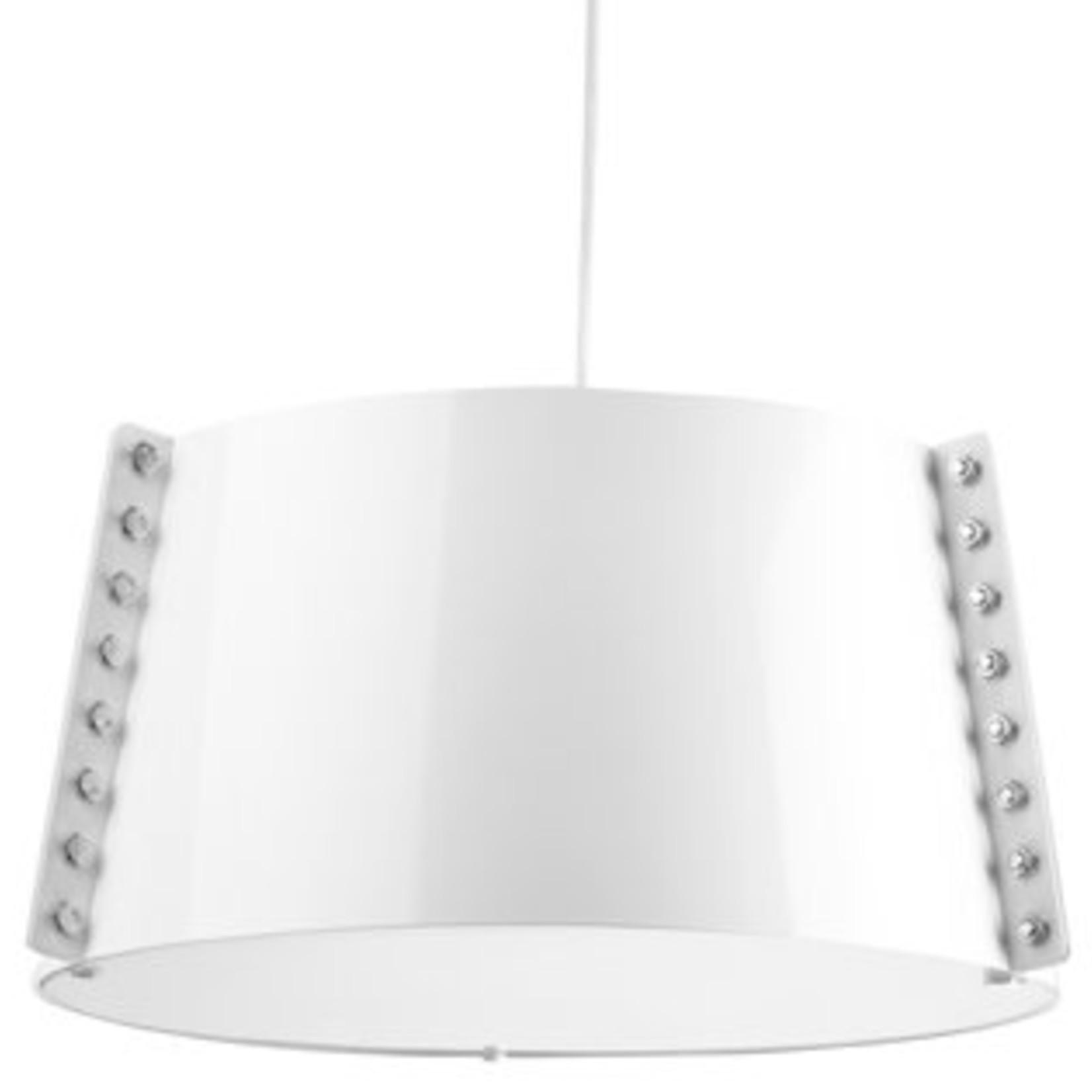 Leitmotiv Trendy hanglamp uitgevoerd in wit