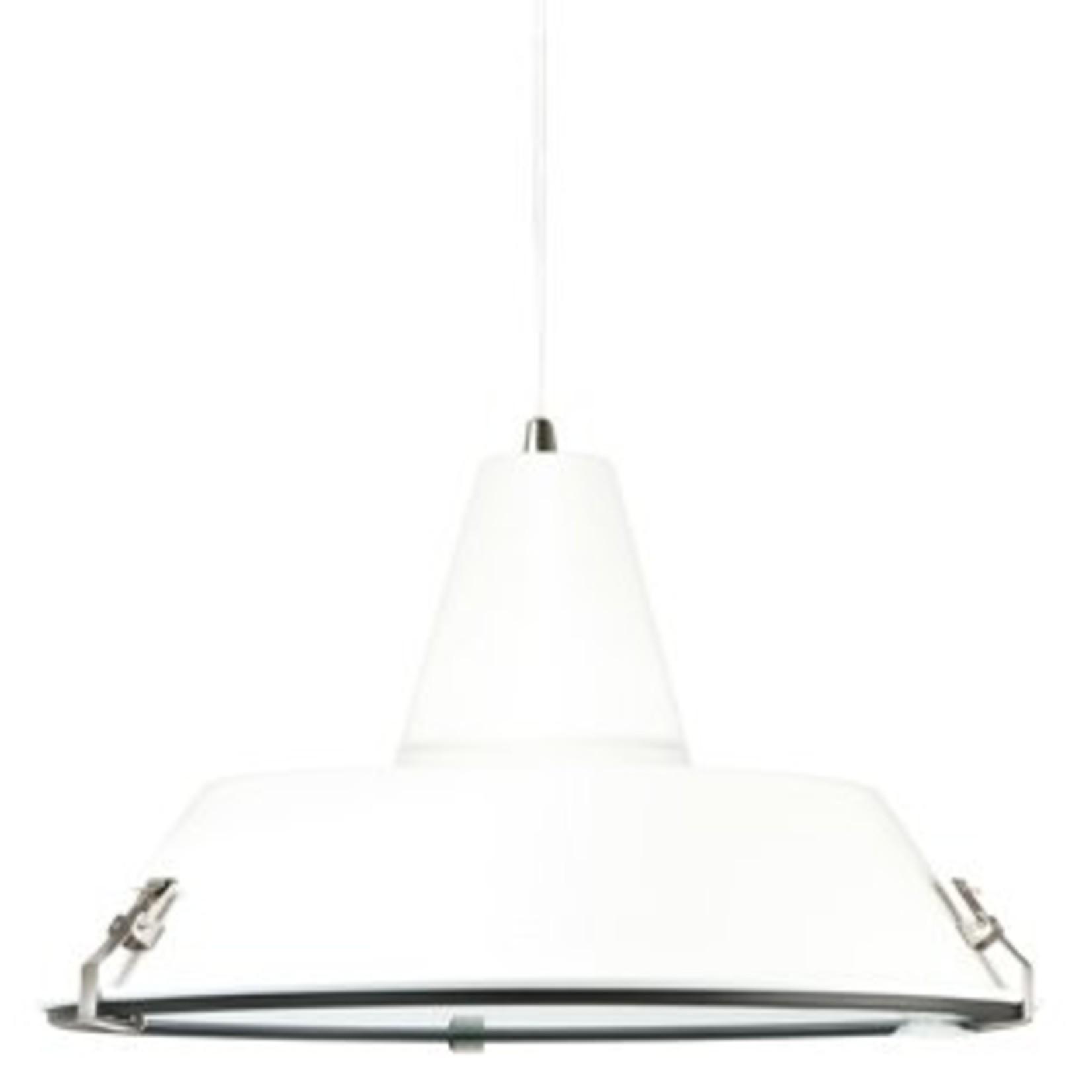 Leitmotiv Strak hanglamp in wit met witte kabel