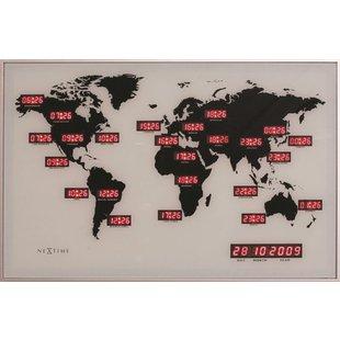 NeXtime World Time Digit wandklok
