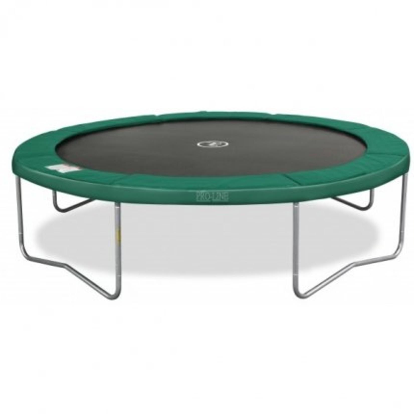 Avyna Top kwaliteit trampoline, die zeer veilig is en onderhoudsvriendelijk.Doorsnee 365cm en hoogte 89cm