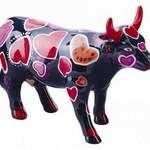 Cowparade Cowparade Medium Ceramic Coo-Ween of Hearts