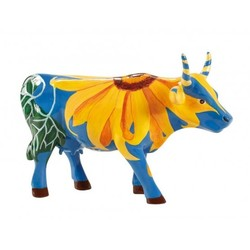 Cowparade Medium Resin Udderly Sunflowers