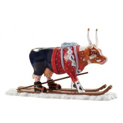 Cowparade Medium Resin The Ski Cow
