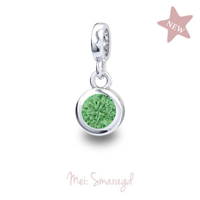 Piccolo Piccolo Geboortesteen hanger Mei Smaragd