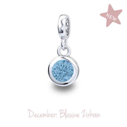 Piccolo Piccolo Geboortesteen hanger December Blauwe Zirkoon