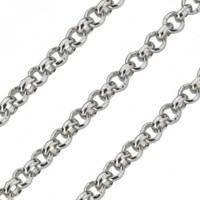 Quoins Quoins Jasseron ketting QK-ZR1 zilver