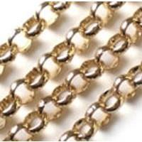 Quoins Jasseron Ketting gold plated 3mm QK-G1