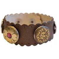 Babouche Baboos Babouche armband leer wave oud bronze