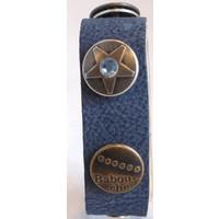 Babouche Baboos Babouche armband leder blauw