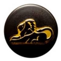 Babouche Baboos Babouche Baboos Drukker zwart/goud Leeuw