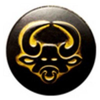 Babouche Baboos Babouche Baboos Drukker zwart/goud Stier